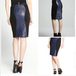 NWT Rebecca Minkoff Della Leather Panel Skirt
